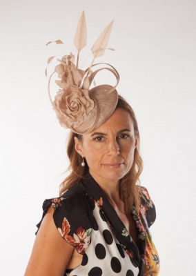 Snoxell Gwyther Fascinator Nude SG832
