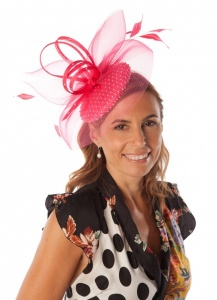 Snoxell Gwyther Fascinator Fuschia SG809