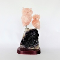 Owls Gemstone Sculpture