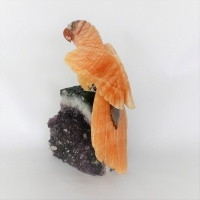 Parrot Gemstone Sculpture