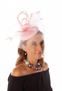 Snoxell Gwyther Fascinator Pink SG809
